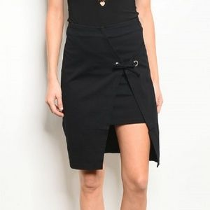 Dresses & Skirts - Black Elegant Asymmetric Skirt